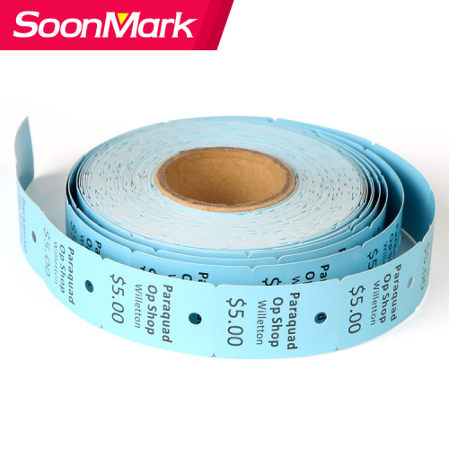 Coated art paper garment hang tag labels roll