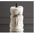 Plush wine bottle cover bag with Nordic style