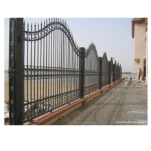 Exterior Metal Sliding Wrought Iron fence Design