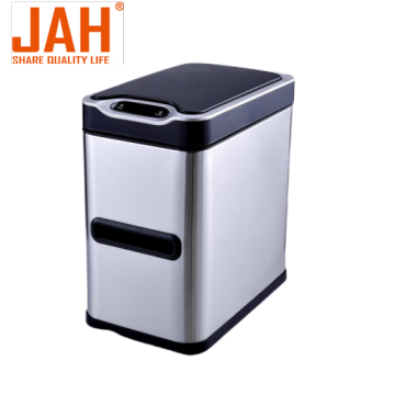 JAH Stainless Steel Sensor Trash Bin for Bathroom