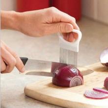 1PC New Kitchen Gadgets Onion Slicer Tomato Vegetables Safe Fork Vegetables Slicing Cutting Tools
