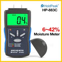 HoldPeak Moisture Meter Digital Wood/Building Moisture Meter 6-42% Tester Hygrometer Timber Damp Humidity Measuring Device