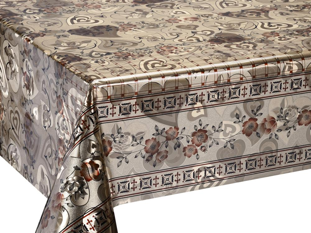 Double Face Silver Coating Printed Tablecloth