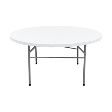 5FT White Plastic Hotel Banquet Tables Folding