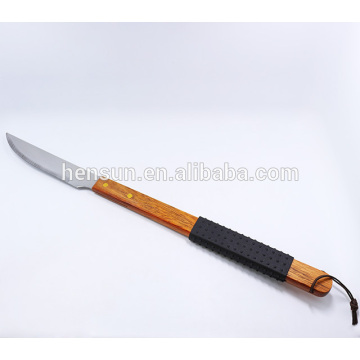 Non-slip Wooden Handle BBQ Accessories BBQ Grill Knife