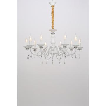 Nordic Modern Restaurant Decoration White Iron Chandelier