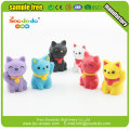 nocelty 3d cartoon cat lucky cat shape eraser