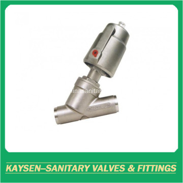 3A Sanitary pneumatic angle seat valves welding end