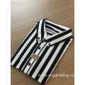 Fashion yarn dyed stripe short sleeve kids shirt
