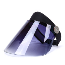 Blue hard visor transparent sun visor hat