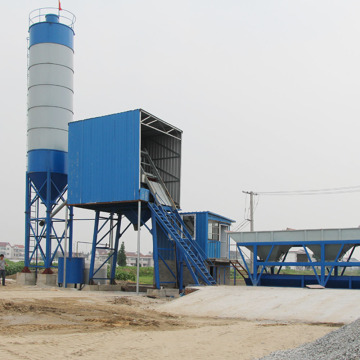 Long service HZS series mini concrete batching plant