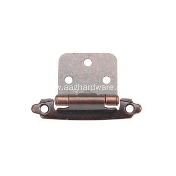 Metal Overlay Iron Self-Closing Decorative Cabinet Hinge