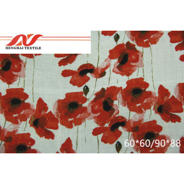 printing red fabric 60*60/90*88 125gsm-130gsm 53/54