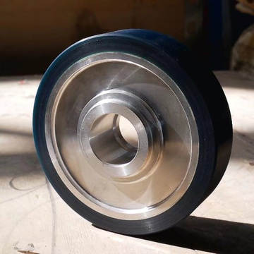 Aluminum Wheel with Applied Urethane Tire Coating Wheel