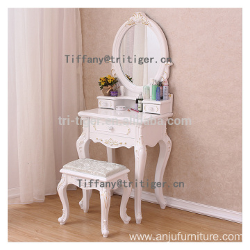 Home furniture table white wooden drawers bedroom dresser