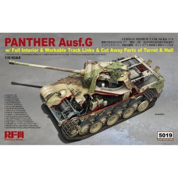 Rye Field Model RFM RM-5019 1/35 Panther Ausf.G w/Full Interior - Scale model Kit