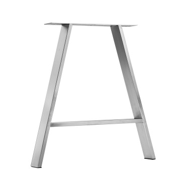 brushed stainless steel custom modern metal table legs