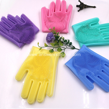 Kitchen cleaning gloves silicone dish washing gloves