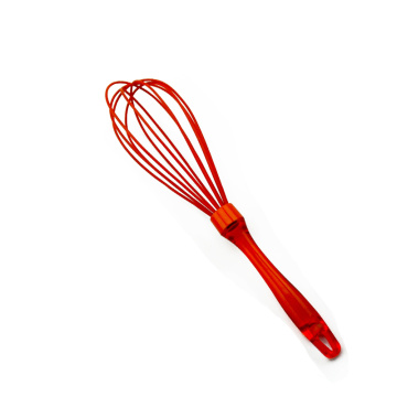 plastic handle silicone coated egg beater whisk