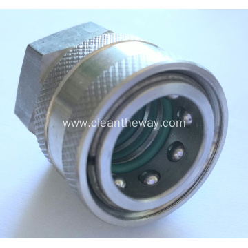 "Pressure Washer Stainless Steel Quick Release Coupling 3 O.Ring 1/4"" Female BSP"