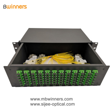 3U 72 Cores SC Fiber Optic Termination Box Patch Panel