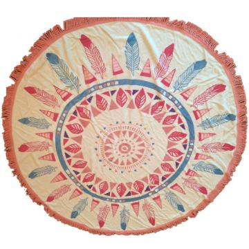 cheap wholesales round beach towels mandala
