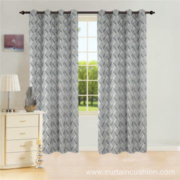 Decorative Jacquard Grommet Curtain
