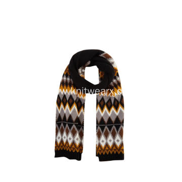 Women's Knitted Jacquard Argyle Winter Scarves