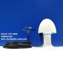 TOP103 New Marine GNSS GPS GLONASS antenna module NMEA 0183 baud rate 4800 DIY connector 12V RS232 protocol agriculture gps
