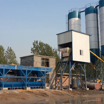 Mini 75m3/h portable concrete batching plant machine