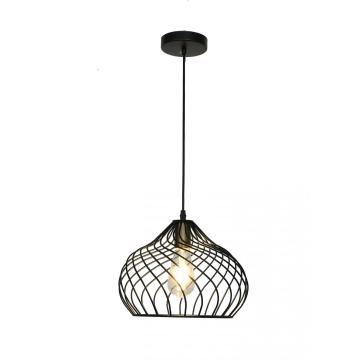 Nordic black birdcage shape metal Chandelier
