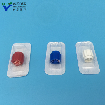 white blue red luer lock stopper