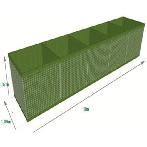 hesco barriers defensive bastion military sand wall