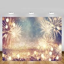 Mehofond Happy New Year Photo Background Fireworks Firecrackers Glitter Polka Dot Celebration Party Photography Backdrops Shoot