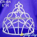 Best selling clear star rhinestone crown crystal tiara
