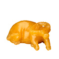 Natural Yellow Jade Bull Figurine Hand Carved Quartz Crystal Bull Energy Healing Crystal Stone Fengshui Crafts Home Decoration