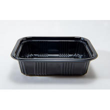 Rectangular Disposable Plastic Black Base Bento Box
