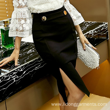 High Quality Women Vent Long Skirt