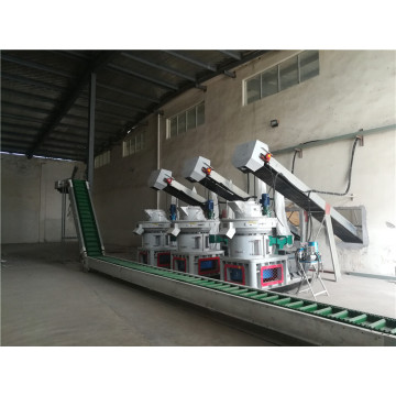 High efficiency lines for production of wood pellets