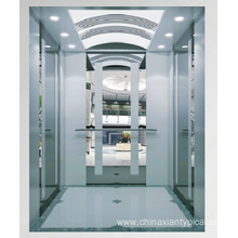 MRL 1600kg Passenger Lift with Mirror Etching Finish