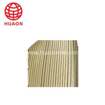 glass fiber covered film wrapped flat copper wire