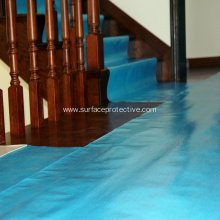 Blue Breathable Flooring Covering During Consturction