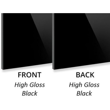 High Gloss Black Aluminium Composite Panel