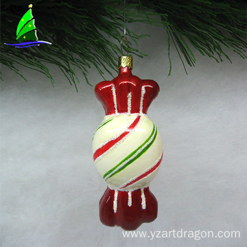 glass hard candy ornament for holiday decoration