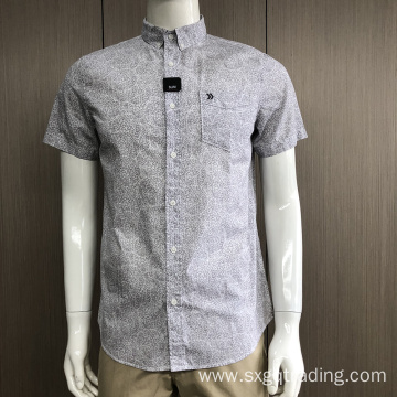 Custom 100% cotton short sleeve shirt