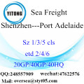 Shenzhen Port Sea Freight Shipping To Port Adelaide