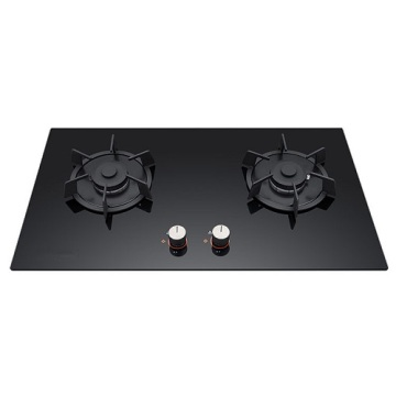 4 Burner Gas Hob Wok Burner Black Glass