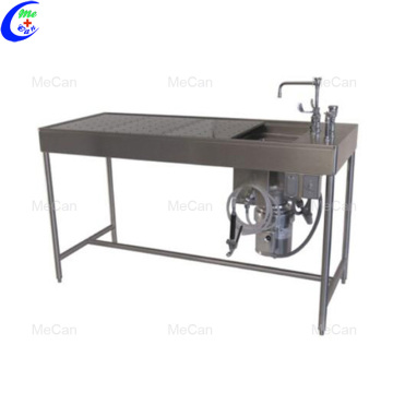 High quality 304 stainless steel autopsy table checklist
