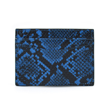 OEM High Quality Python Leather Credit Card Holder