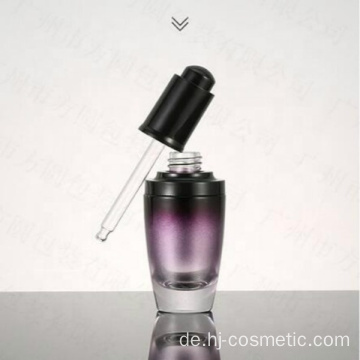 wholesales High-grade round Gradient purple cosmetics electroplating glass bottle/jars with good price